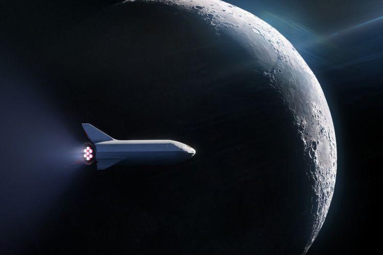 ilustrasi BFR, pesawat yang akan mengelilingi bulan