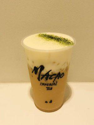 Cheese Alisan Milk Tea yang dijual dengan harga 550 yen (belum termasuk pajak) menggabungkan aroma teh yang kaya dan keju.
