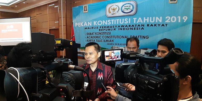 Sekjen MPR Maruf Cahyono berharap generasi muda kritis terhadap persoalan bangsa