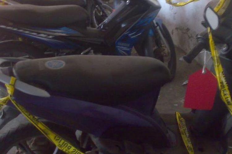 Ilustrasi: Barang bukti motor sitaan kasus pencurian kendaraan bermotor.