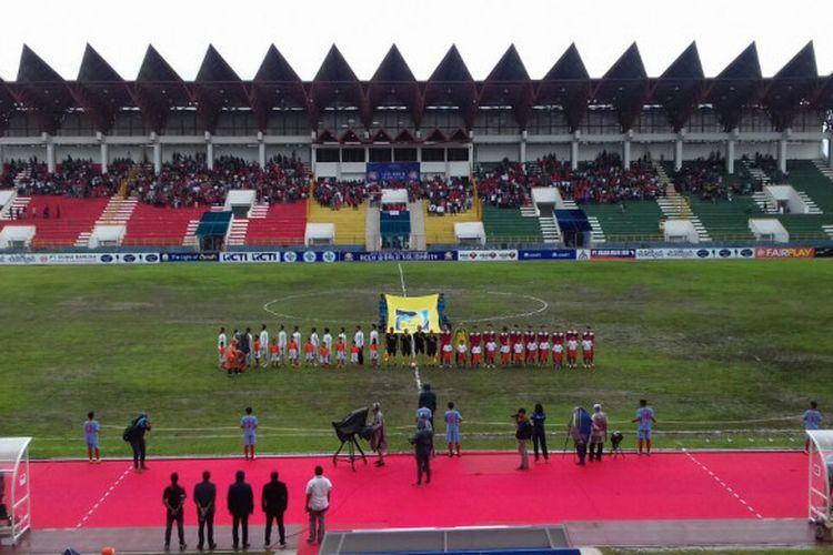 Laga Indonesia Vs Kirgistan pada Aceh World Solidarity Cup 2017.