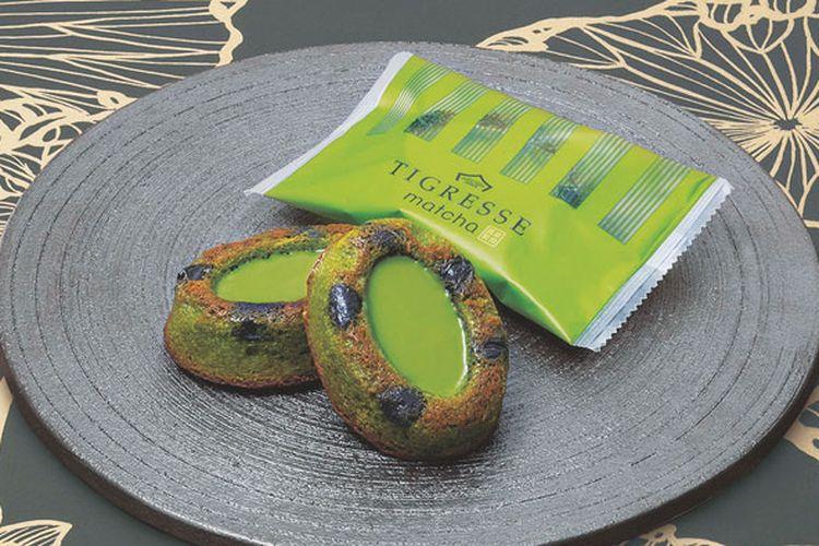 Kue cokelat rasa matcha yakni Tigresse Matcha bisa dibeli dari gerai Gateau Festa Harada, Kansai, Jepang.