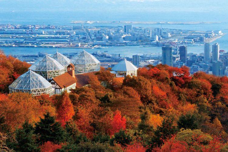 Kobe Nunobiki Herb Garden. Taman ini bisa dijangkau dengan 5 menit jalan kaki dari stasiun Shin-Kobe, Prefektur Hyogo, Jepang.