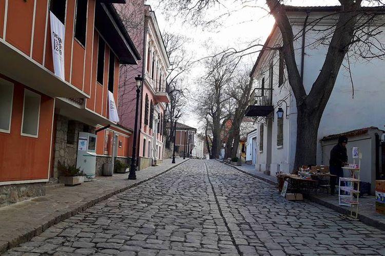 Kota Tua Plovdiv, Bulgaria.