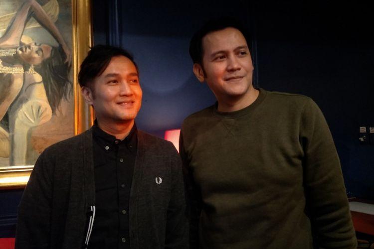Aldi dan Rendy Bragi dalam konferensi pers The 90s Festival di Foodism, Kemang, Jakarta Selatan, Selasa (14/11/2017).