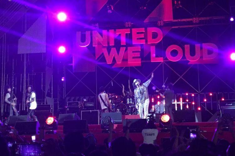 /rif tampil dalam Soundrenaline 2017 di Garuda Wisnu Kencana, Bali, Minggu (10/9/2017) malam.
