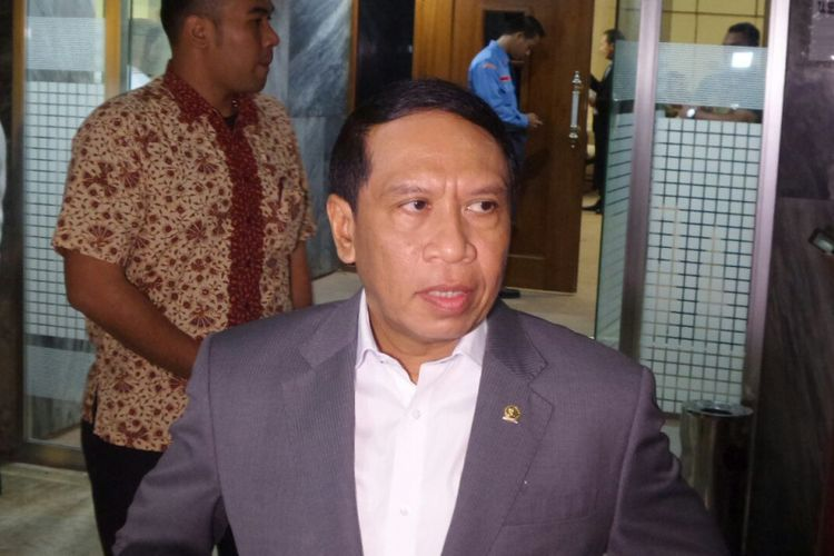 Ketua Komisi II DPR Zainuddin Amali di Kompleks Parlemen, Senayan, Jakarta, Rabu (4/10/2017).