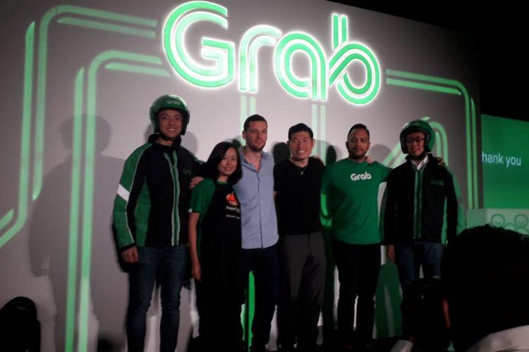 Grab memperkenalkan layanan baru yaitu GrabFresh dan GrabPlaform dalam konferensi pers di Marina One, Singapura pada Selasa (10/7/2018)
