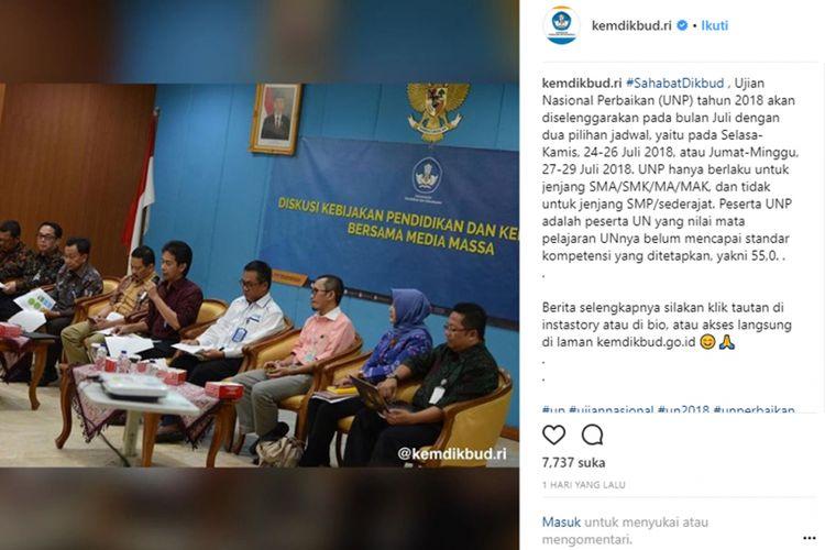 Informasi Ujian Nasional Perbaikan (UNP) 2018
