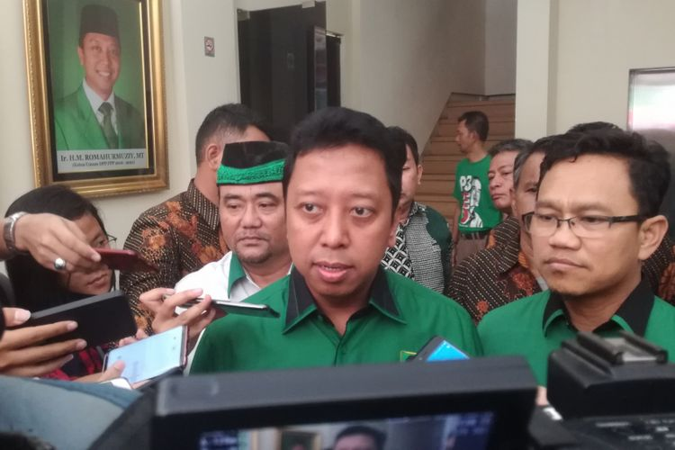 Ketua Umum PPP M Romahurmuziy(DYLAN APRIALDO RACHMAN/KOMPAS.com)