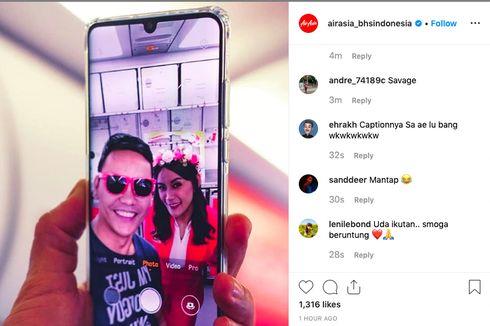 AirAsia Gelar Kontes Foto di Pesawat, Berhadiah Tiket ke Lombok dan Labuan Bajo