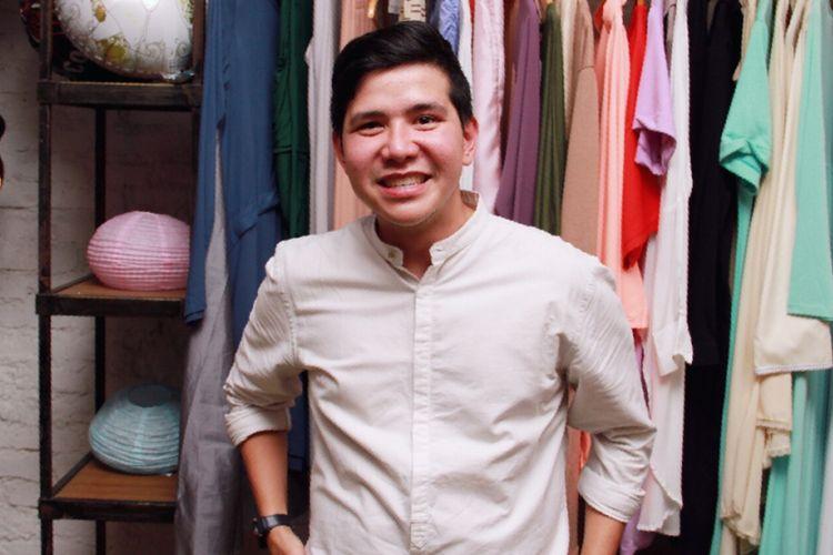Haykal Kamil diabadikan di sela acara Grand Opening Warehouse ZAM Mechanism di Kemang, Jakarta Selatan, Kamis (25/5/2017).