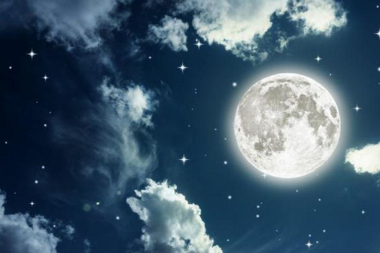 Ilustrasi bulan purnama.
