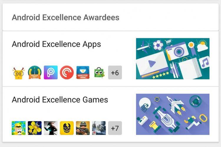 Aplikasi Tokopedia dalam jajaran pilihan editor di Google Play Store.