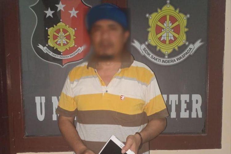 Terduga pelaku ujaran kebencian di Kutai Kalimantan Timur, diamankan Kepolisian Resor Luwu Utara di Dusun Kalatiri, Desa Mulyasari, Kecamatan Sukamaju, Sabtu (10/8/2019)