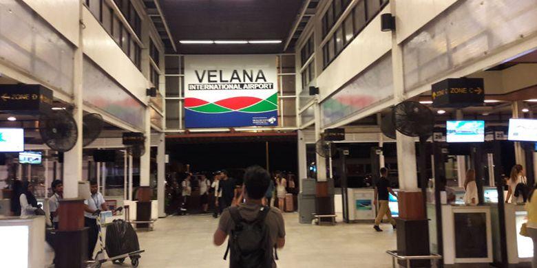 Bandara Internasional Velana di Maladewa, Jumat (14/7/2017).