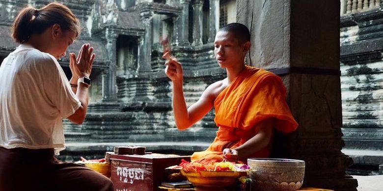 Kuil Angkor Wat di Kamboja.