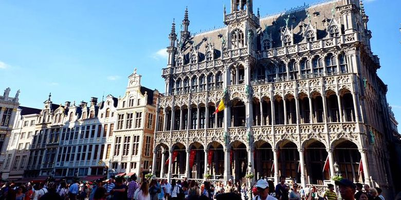 Grand Place di Brussels, Belgia.