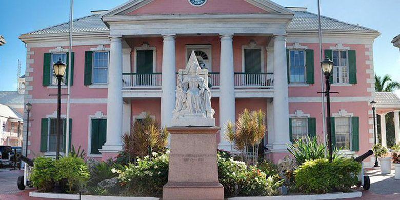 Gedung pemerintah di Nassau, Bahama.