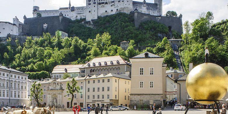 Kapitelplatz di Salzburg, Austria.