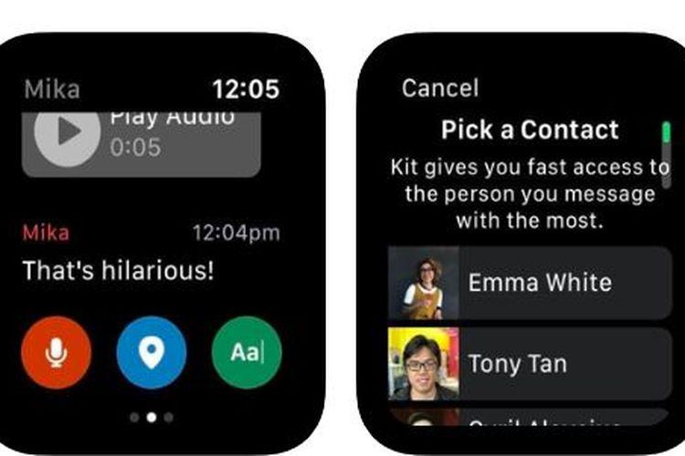 Aplikasi KIT dari Facebook khusus Apple Watch