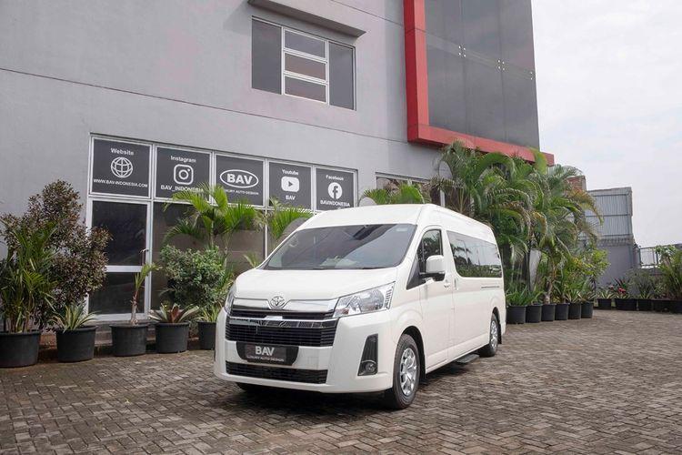 HiAce Premio motorhome buatan BAV Luxury Auto Design