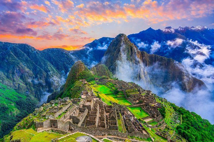 Tempat wisata di Peru - Machu Picchu.