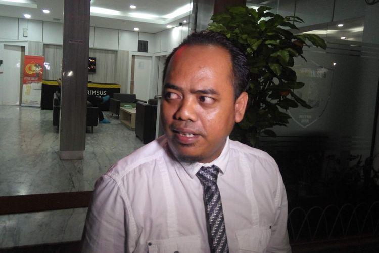 Muannas Al Aidid saat di Mapolda Metro Jaya.