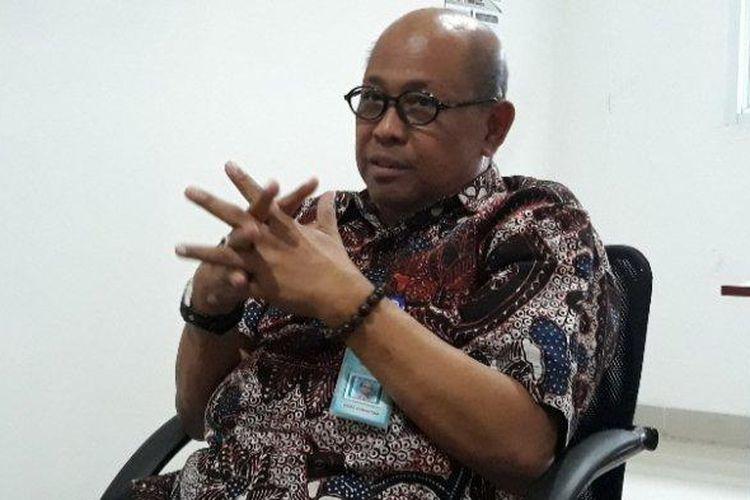 Ketua IDI Tangsel Imbar Umar Ghazali di Kantor Dinas Kesehatan Tangsel, Jalan Cendikia, Serpong, Tangsel, Kamis (16/1/2020).