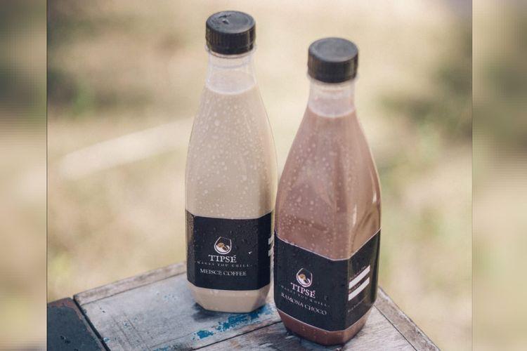 Benedicta Alvinta dan Gilang Gagastama, dua milenial yang memulai bisnis minuman kopi dalam kemasan dengan brand Tipse Coffee.