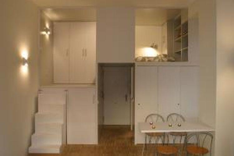 Apartemen mungil dengan desain kompak, tak memerlukan biaya tinggi.