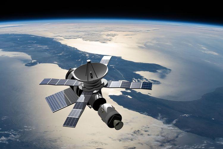 Ilustrasi satelit mengorbit planet Bumi. Badai luar angkasa ditemukan ilmuwan China, berputar-putar di atas Kutub Utara. Ilmuwan menduga badai dengan hujan elektron ini mungkin memengaruhi cuaca luar angkasa dan menyebabkan berbagai gangguan pada satelit dan sistem komunikasi.