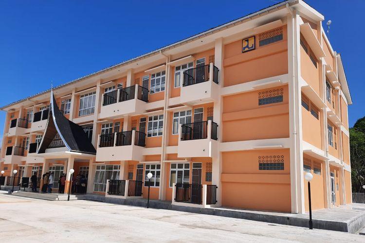 Rumah Susun (Rusun) Mahasiswa Akademi Komunitas Negeri Kabupaten Pesisir Selatan, Provinsi Sumatera Barat.