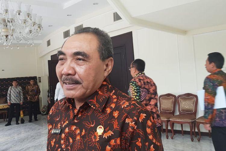 Ketua LPSK Hasto Atmojo Suryo usai bertemu dengan Wakil Presiden Maruf Amin di Kantor Wapres, Jakarta, Kamis (12/3/2020).