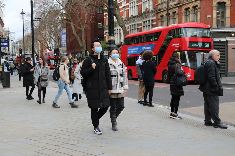 Suasana Kota London di masa pandemi virus corona.