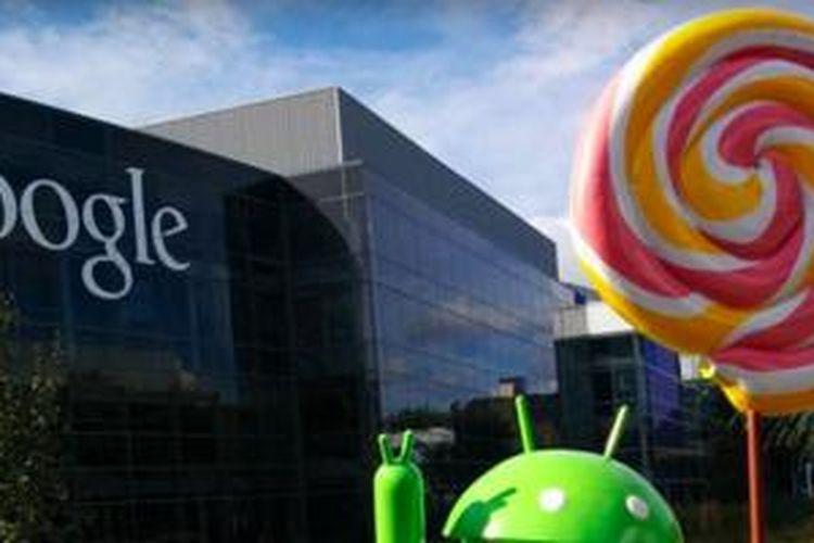 Patung Android Lollipop di Markas Google