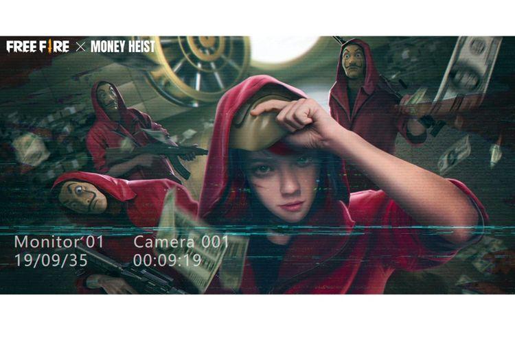 Kolaborasi Garena Free Fire dengan serial Netflix Money Heist.