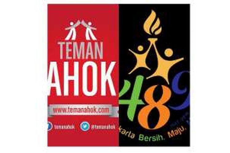 Logo Teman Ahok dan logo HUT ke-489 DKI Jakarta