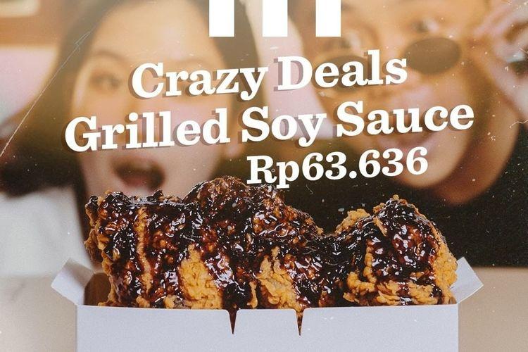 Crazy deals grilled soy sauce KFC.
