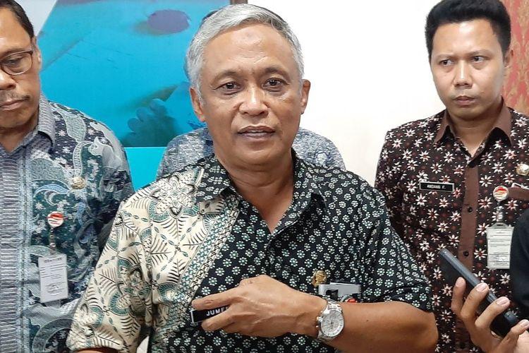 Kepala Dinas Pendidikan Jawa Tengah Jumeri saar konferensi pers di Kantor Gubernur Jateng, Rabu (19/2/2020).