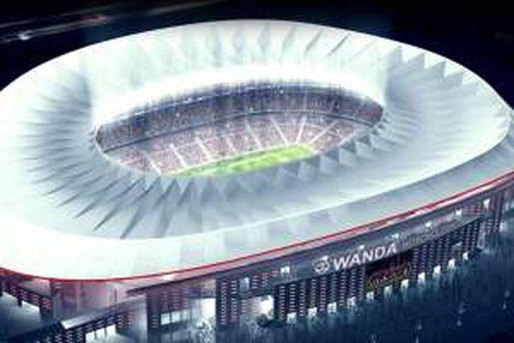 Stadion Wanda Metropolitano bakal dipakai sebagai markas Atletico Madrid mulai musim 2016-2017.