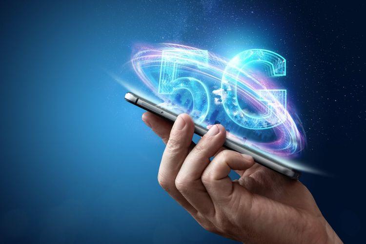 ilustrasi smartphone 5G