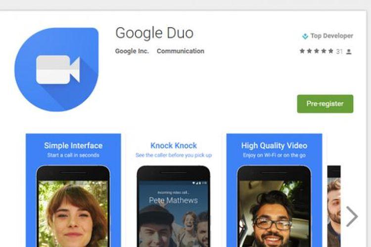 Google Duo di Play Store.