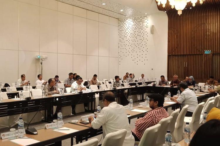Uji publik dua rancangan Peraturan KPU (PKPU) jelang penyelenggaraan pemilihan kepala daerah (Pilkada) 2020 di Hotel Le Meridien, Jakarta Pusat, Senin (25/11/2019).