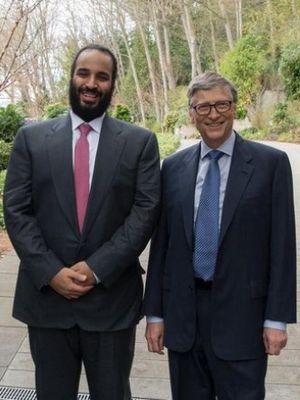 Pangeran Mohammed bin Salman (kiri) dan Bill Gates (kanan). ( Al Arabiya)