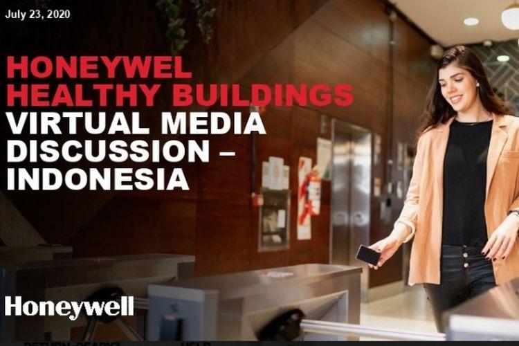 Materi Diskusi Online bersama awak media bertajuk Honeywell Healthy Buildings, Kamis (23/7/2020).