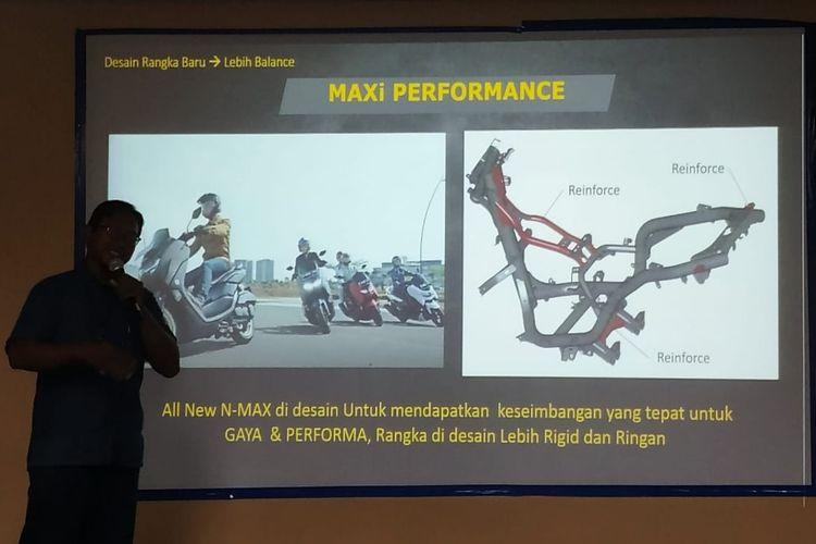 Bentuk rangka All New Yamaha NMAX