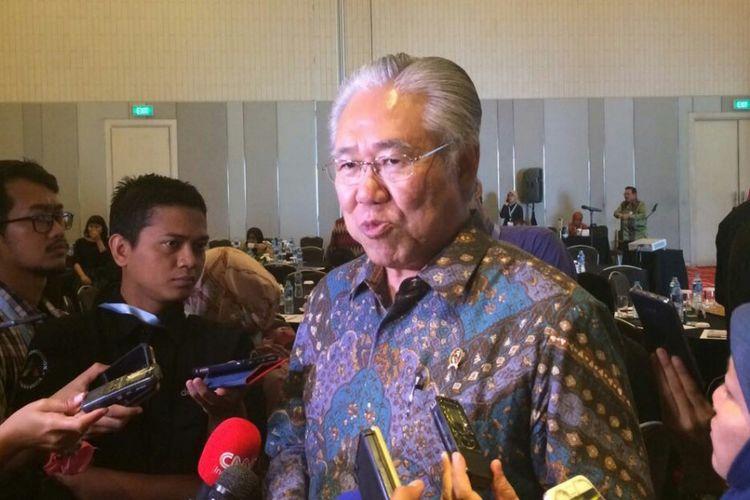Menteri Perdagangan (Mendag) Enggartiasto Lukita disela-sela acara International Conference and Call For Paper di Cikini, Jakarta, Selasa (5/8/2017).