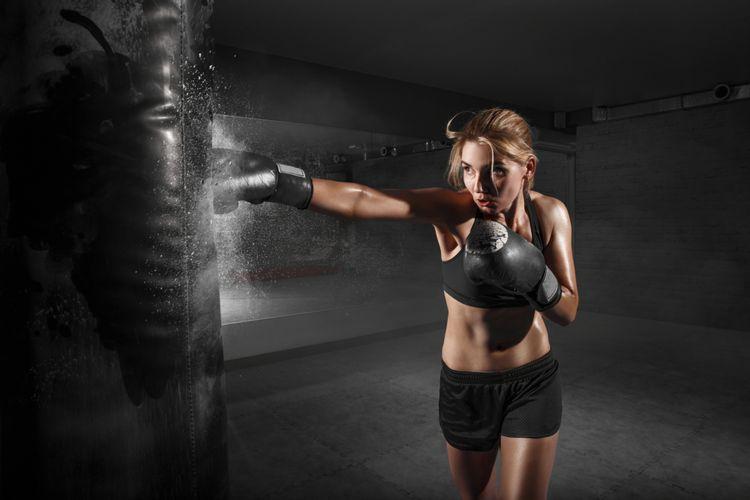 Berkeringat saat berolahraga tinju