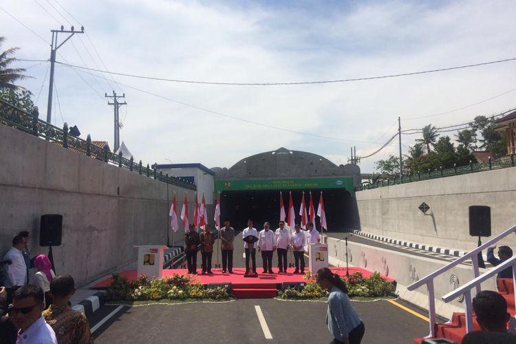 Presiden Joko Widodo (Jokowi) meresmikan underpass Yogyakarta International Airport (YIA), Jumat (31/1/2020).
